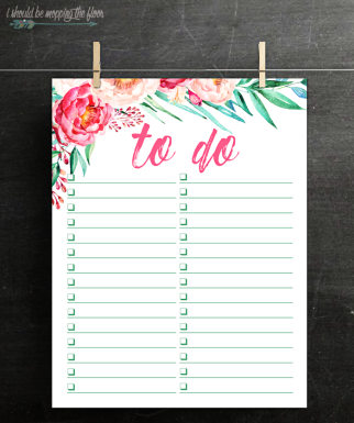 free printable to do list